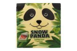 Салфетки желтые 100шт. снежная Панда