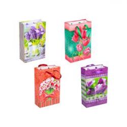Пакет цветной малый Цветы 1006