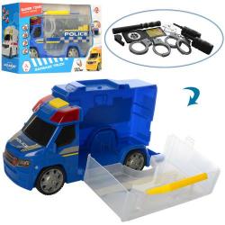 Машинка (полиция, рация, дубинка, наручники, свет) 969-K07