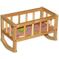 Кроватка деревянная 44-24-28 см, ОП-002