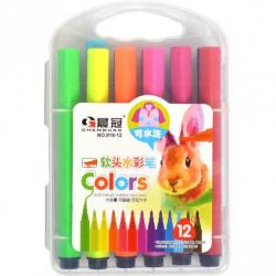Фломастеры - кисточки COLOR-IT 12 цветов 919-12