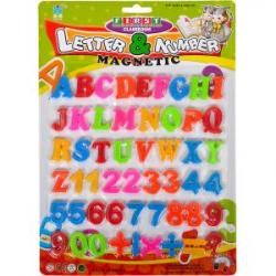 Английские буквы, цифры и знаки на магните 8305