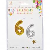 Надувные шарики 40см золото-серебро 35-7 №6