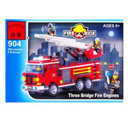 Конструктор BRICK  Пожарные  Пожарная машина 904 364 деталей