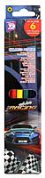 Карандаши цветные COOLFORSCHOOL Racing 6 цветов