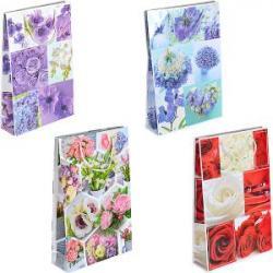 Пакет цветной большой Яркие Цветы вертикальный 5019