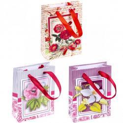 Пакет цветной Цветы микс 0002