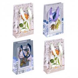 Пакет цветной Цветы микс 0003