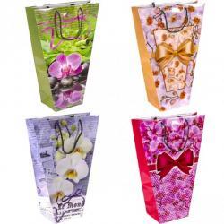 Пакет цветной маленький для букетов Орхидея 8002