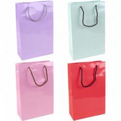 Пакет цветной средний Однотонный 3019