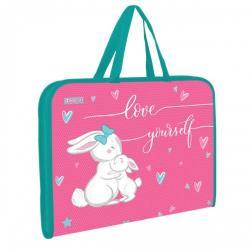 Папка - портфель 1Вересня  Bunny  на молнии с тканевыми ручками 491921