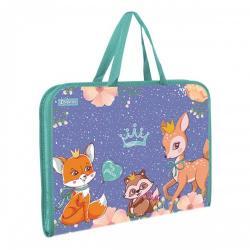 Папка - портфель 1Вересня  Forest princesses  на молнии с тканевыми ручками 491920