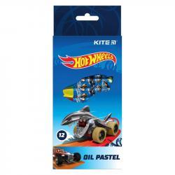 Пастель масляная 12 цветов  Hot Wheels  Kite HW21-071