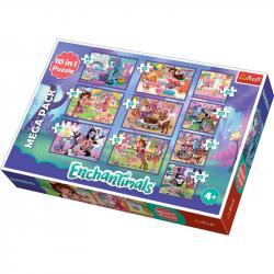 Пазлы 10 в 1 Trefl Mattel Enchantimals (20, 35, 48 элементов) 90354