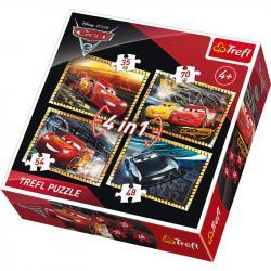 Пазлы 4 в 1 Trefl Disney Cars (35,48,54,70 элементов) 34276