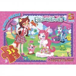 Пазлы G-Toys  Enchantimals , 35 элементов, EA206