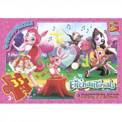Пазлы G-Toys  Enchantimals , 35 элементов, EA207