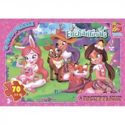 Пазлы G-Toys  Enchantimals , 70 элементов, EA210