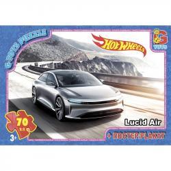 Пазлы G-Toys  Hot Wheels , 70 элементов, FW730