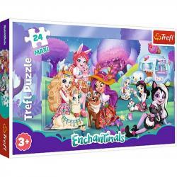 Пазлы Trefl Mattel Enchantimals 24 элемента макси 14315