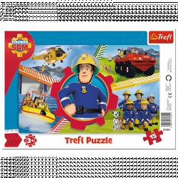 Пазлы Trefl День пожарного Сэма 15 элементов 31351