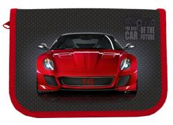 Пенал  Red Car , 1-яр, с 1 отв., с наполнит., CLASS 21310C