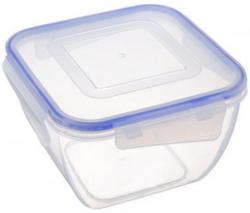 Контейнер для хранения продуктов с зажимом квадртний 0,9 л
