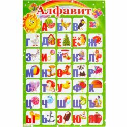 Плакат Коленкор Алфавит Русский 93566
