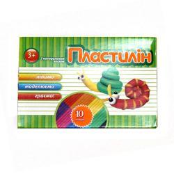 Пластилин 10 цветов 100г Тетрада Ш-2403