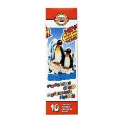 Пластилин 10 цветов 200 г  Пингвины  KOH-I-NOOR, 01897