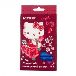 Пластилин 12 цветов 200г  Hello Kitty  Kite, HK19-086