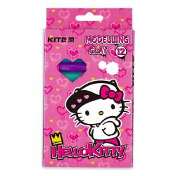 Пластилин 12 цветов 200г  Hello Kitty  Kite, HK21-086