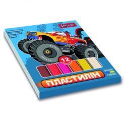 Пластилин 12 цветов Monster Truck 1Вересня 540590