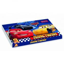 Пластилин 6 цветов Cars 1Вересня 540549