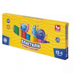 Пластилин 12+1 цветов ШКОЛЯРИК 303115007-UA