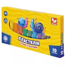 Пластилин 10 цветов ШКОЛЯРИК 83812902-UA