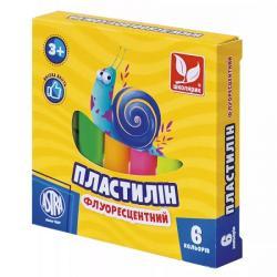 Пластилин неоновый 6 цветов ШКОЛЯРИК 83811906-UA
