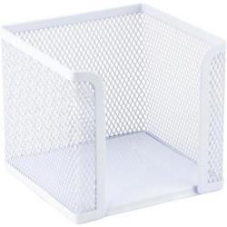 Подставка для бумаги 100х100х100 мм металлическая белая Axent 2112-21-А