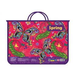 Портфель пластиковый A4 на молнии Beauty Spring