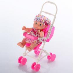Пупс 12см с коляской, KY185-1B