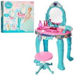 Трюмо, стульчик, зеркало, фен, аксессуары (звук, свет, на батарейках), LM90013