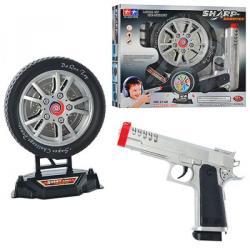 Пистолет (мишень в виде колеса, с возрастом, свет, на батарейках, в коробке 31-26-6см), 2148
