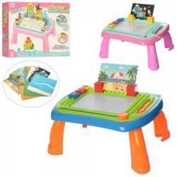 Дощечка для рисования-столик 36-30-18см цветная, штамп 3шт., Карточки, 009-2023-2025