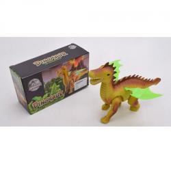 Динозавр 26см. (Ходит, звук, свет, на батарейках), 801