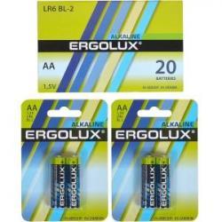 Батарейка Ergolux AA LR6 BL-2 Alkaline