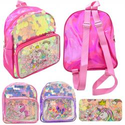 Рюкзак детский с блестками Wild&Mild Unicorn 22х19х9см ST02113