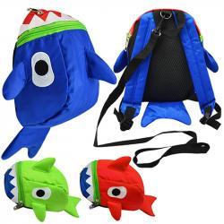 Рюкзак детский с поводком Wild & Mild  Акула  21х16х10см ST02218