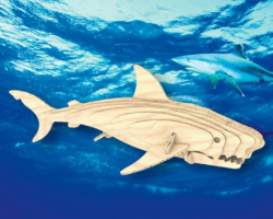 Деревянная сборная модель Белая Акула