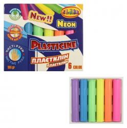 Пластилин CLASS Чистые руки ECO NEON 6 цветов 100гр.