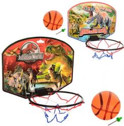 Баскетбольное кольцо (щит:картон 28х21, кольцо:пластик 17см, сетка, мяч) в пакете 2 вида JW M 2988